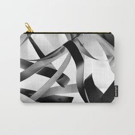 Black paper stripes Carry-All Pouch