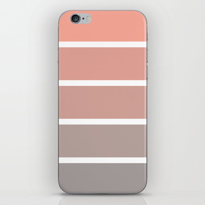 coral fade rectangles iPhone Skin