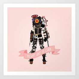 Fight Like a Girl: Big Sister Art Print