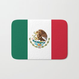 Flag of Mexico - Authentic Scale and Color (HD image) Bath Mat
