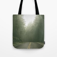Forest Road Trip - Vintage Fir Trees Pacific Northwest Tote Bag