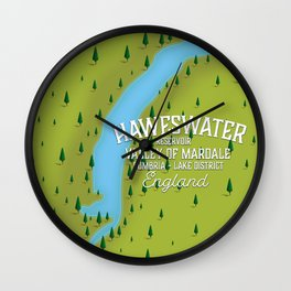 Haweswater, lake district England travel poster Wall Clock