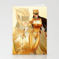 power ranger Stationery Cards featuring Yellow Ranger by Isaiah K. Stephens