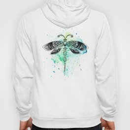 Watercolor dragonfly Hoody
