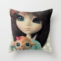 lamb Throw Pillows featuring Lamb by ♥  Little Enchanted World ♥