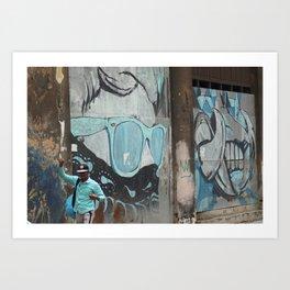 Cuban Streetart - Cool Blue Art Print