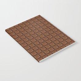 Just chocolate / 3D render of dark chocolate Notebook