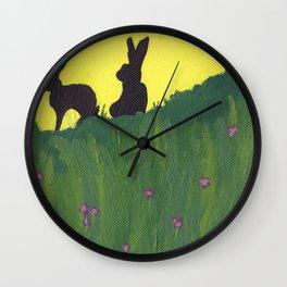 Young Peter Rabbit - Panel 3 Wall Clock