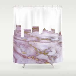 Fort Lauderdale Skyline Shower Curtain