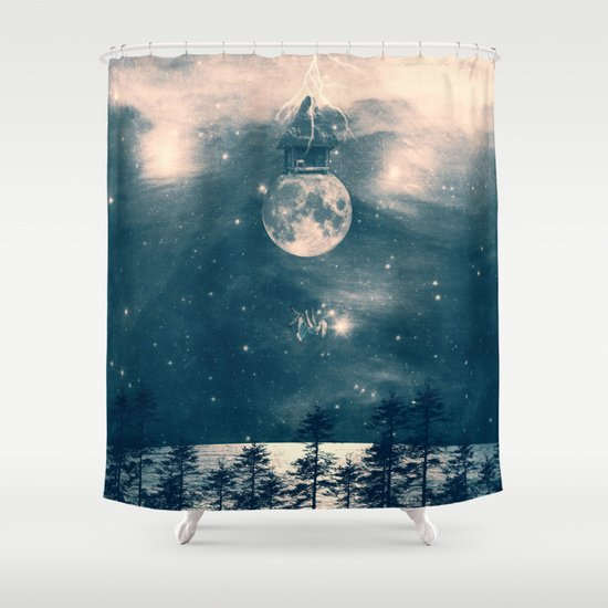 One Day I Fell from My Moon Cottage... Shower Curtain