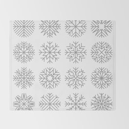 minimalist snow flakes Throw Blanket
