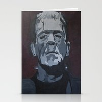 frankenstein Stationery Cards featuring Frankenstein by Paintings That Pop