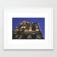 budapest hotel Framed Art Prints featuring Hotel in Budapest by Victoria Wee