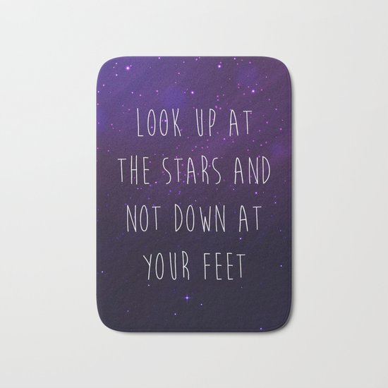 Look Up At The Stars Motivational Quote Bath Mat
