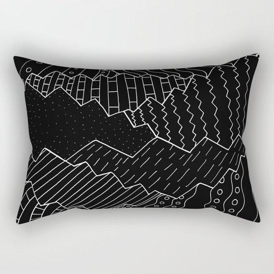 The black and white mountains Rectangular Pillow