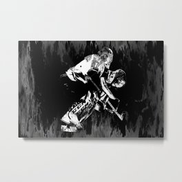 Ice Hockey Goalie Metal Print
