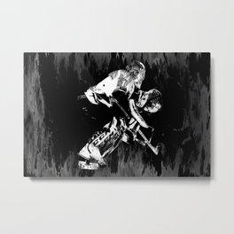 Ice Hockey Goalie Metal Print