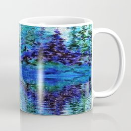 SCENIC BLUE MOUNTAIN PINES LAKE REFLECTION Coffee Mug
