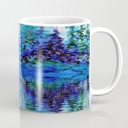 SCENIC BLUE MOUNTAIN PINES LAKE REFLECTION Coffee Mug