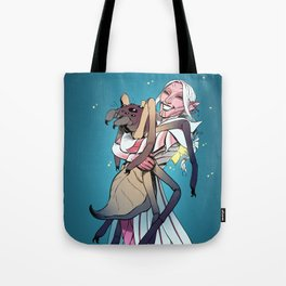 Spider Lily and Teaka Tote Bag