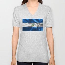 Nicaragua Flag Unisex V-Neck