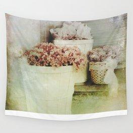 Vintage Street Flowers Wall Tapestry
