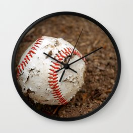 Old Baseball Wall Clock