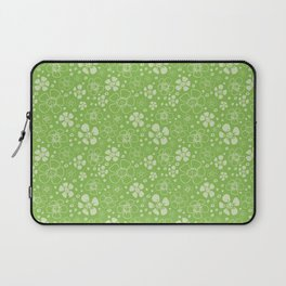 Sweet Green Floral Laptop Sleeve