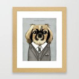 Mad Men Dogs: Pekingese Campbell Framed Art Print