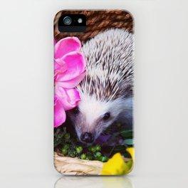 Juni Hedgehog flowers iPhone Case