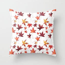 Dead Leaves over White Throw Pillow