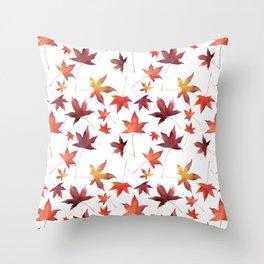 Dead Leaves over White Throw Pillow