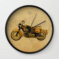 ducati Wall Clocks featuring Ducati Apollo 1963 by Larsson Stevensem