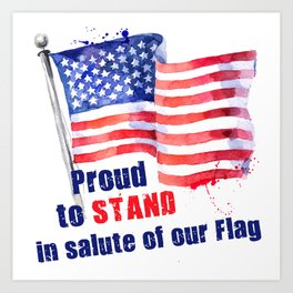 Proud to STAND Art Print
