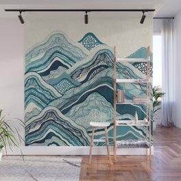 Blue Hike Wall Mural