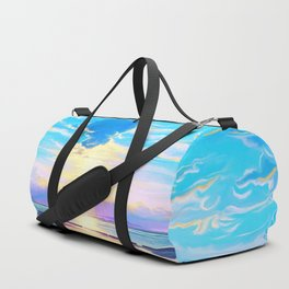 Sunset on the sea Duffle Bag