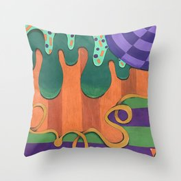 Abstract Mess Throw Pillow