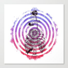 Skeleton Bullseye Canvas Print