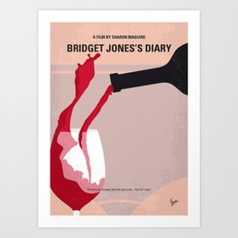 No563 My Bridget Jones Diary minimal movie poster Art Print