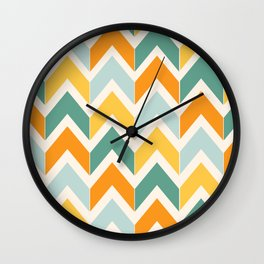 Citrus Chevron Wall Clock
