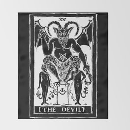 The Devil by Shayne of the Dead Throw Blanket