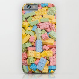 Candy Building Blocks, Multicolored Pastel Pattern iPhone Case