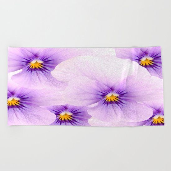 Pansy Patterns Beach Towel