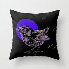 Bush Wren Xenicus Longipes Throw Pillow