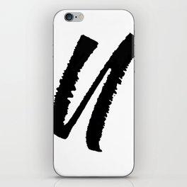 Letter U Ink Monogram iPhone Skin