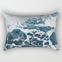 Marble ocean Rectangular Pillow