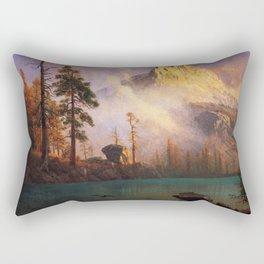 Mountain Lake 2 By Albert Bierstadt | Reproduction Painting Rectangular Pillow