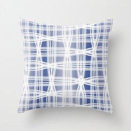 Indigo Pattern (Slim Look Leggings) No.1 Throw Pillow