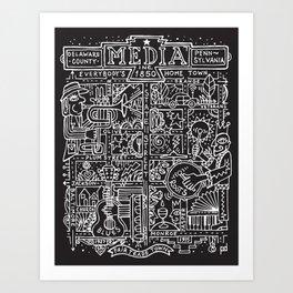 Media PA ARTmap- Black and White Art Print