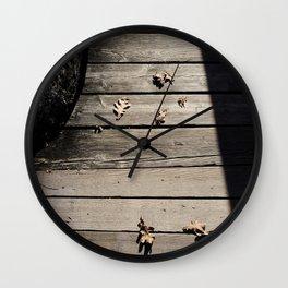 Pensive Autumn Wall Clock